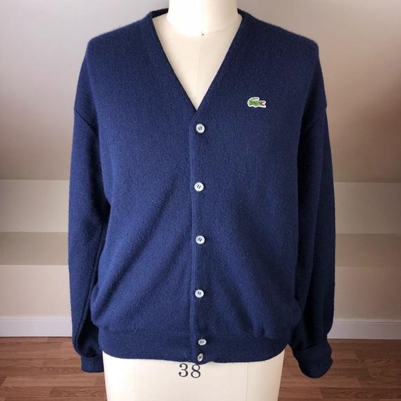 03112135e Lacoste Other - VINTAGE Izod Lacoste Men s Button Up Cardigan